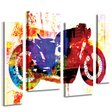 Moto III 4 piece gallery-wrapped canvas