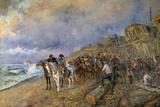 Napoleon Bonaparte Visits the Arsenal of Boulogne  by Maurice Orange