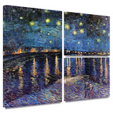 Starry Night over the Rhone Gallery-Wrapped Canvas