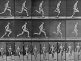 Figure in Different Running Positions