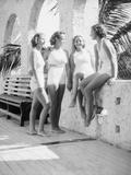 Women Gather Poolside