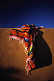 Southwest Blanket on Adobe Wall