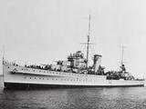 Portrait of Large Ship Ajax Offshore