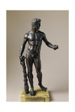 Hercules with Club and Apples of Hesperides  Bronze Statuette by Baccio Bandinelli
