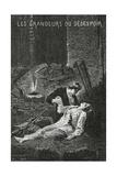 Les Grandeurs Du Desespoir - Illustration from Les Misérables  19th Century