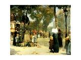Street Scene  Paris  1887