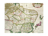 Map of Mongolia Showing Part of Russia  Japan and China  C1680