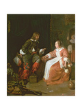 A Maid and an Officer  C 1660-70
