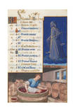 Virgo and Treading Grapes  Calendar for the Feast Days Celebrated in September  C1500