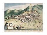 Map of Assisi from Theatrum Civitatum Et Admirandorum Italiae