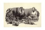 An Arab Man Feeds His Cats