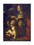 Jesus and Angel  Detail from Virgin of Rocks  1483-1490