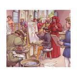 Lorenzo De Medici Visits the School for Artists