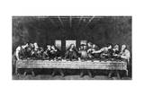 Engraving of Last Supper by Da Vinci