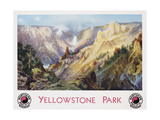 Yellowstone Park Northern Pacific Railway Poster after Thomas Moran