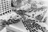 View of the Holland Tunnel Entrance before a Holiday