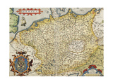 Map of Germany  from Theatrum Orbis Terrarum