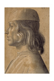 Bust-Length Portrait of a Man in Profile to Left  Wearing a Cap  1475-1500