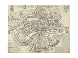 Map of Bristol  Great Britain and its Surroundings  1671