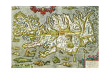 Map of Iceland  1585