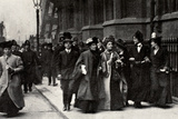 Emmeline Pankhurst Carrying a Petition from the Third Women's Parliament to the Prime Minister