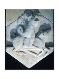 Hercules Carrying an Erymanthian Boar  Votive Relief  5th Century BC
