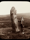 Standing Stone and Gentleman  Dartmoor  C1910