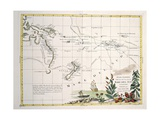 Map of South Seas  New Zealand  New Guinea  New South Wales  Society Islands