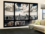 View of Manhattan  New York from Window