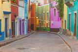 Mexico  Guanajuato Colorful Street Scene