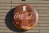 Antique Coca Cola sign  Mansfield  Indiana  USA