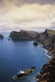 Portugal  Madeira  Ponta De Sao Lourenco Cliff Along Sea