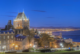 Canada  Quebec  Quebec City  Old Town at Twilight