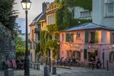 Evening Sunlight on La Maison Rose in Montmartre  Paris  France