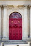 Doors to Saint Paul-Saint Louis Church in the Marais, Paris, France Papier Photo par Brian Jannsen