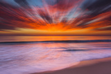 Sunset Abstract from Tamarack Beach in Carlsbad, Ca Papier Photo par Andrew Shoemaker