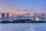 Japan  Tokyo  Odaiba  Rainbow Bridge at Twilight