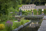 River Coln and Swan Hotel  Cotswolds  Bibury  Gloucestershire  England