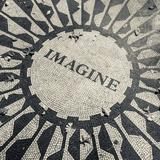 USA  New York  City  Central Park  John Lennon Memorial  Imagine