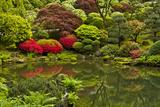 Pond  Strolling Garden  Portland Japanese Garden  Oregon  Usa