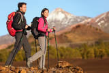 Hikers People Hiking - Healthy Active Lifestyle Hiker People Hiking in Beautiful Mountain Nature L