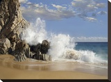 Lover's Beach with crashing waves  Cabo San Lucas  Mexico