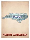 Caroline du Nord Reproduction d'art