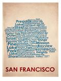 San Francisco Reproduction d'art