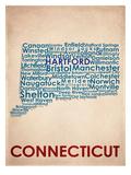 Connecticut Reproduction d'art
