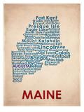 Maine Reproduction d'art