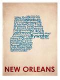 La Nouvelle-Orléans Reproduction d'art