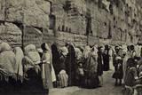 People at the Wailing Wall  Jerusalem
