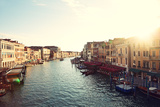 Grand Canal  Venice  Italy  Called Canal Grande in Italian  as Seen from Rialto Bridge Beautiful V