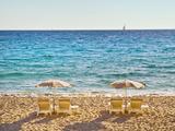 La Croisette Beach  Cannes  Cote D'azur  France